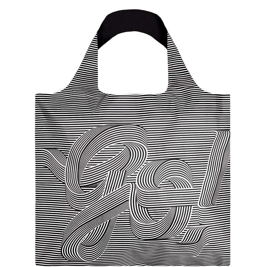 LOQI Nákupní taška Black & White GO