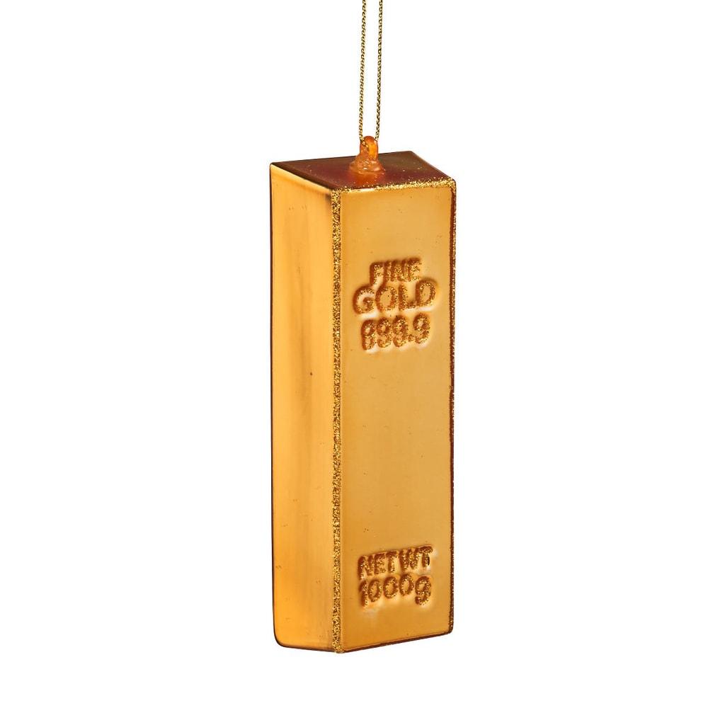 HANG ON Ozdoba cihla zlatá