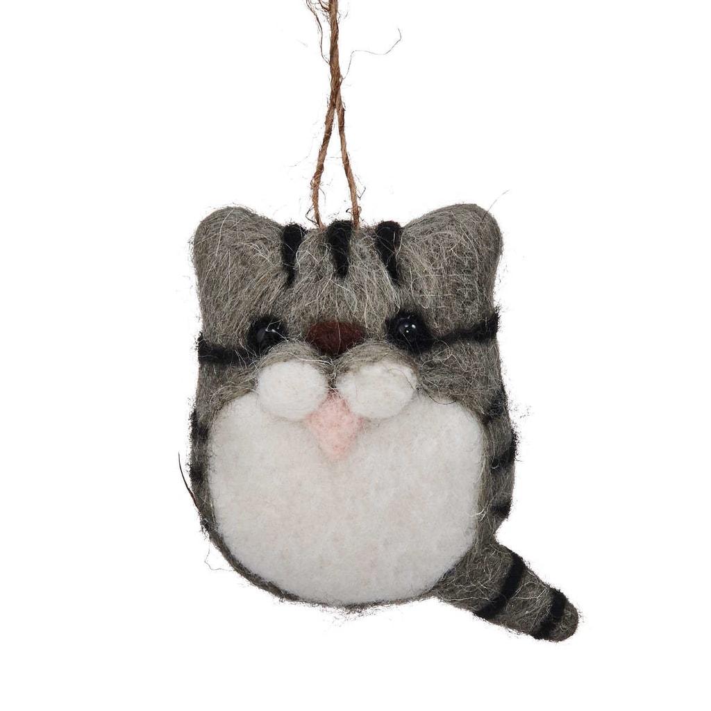 HANG ON Ozdoba filcová kočička