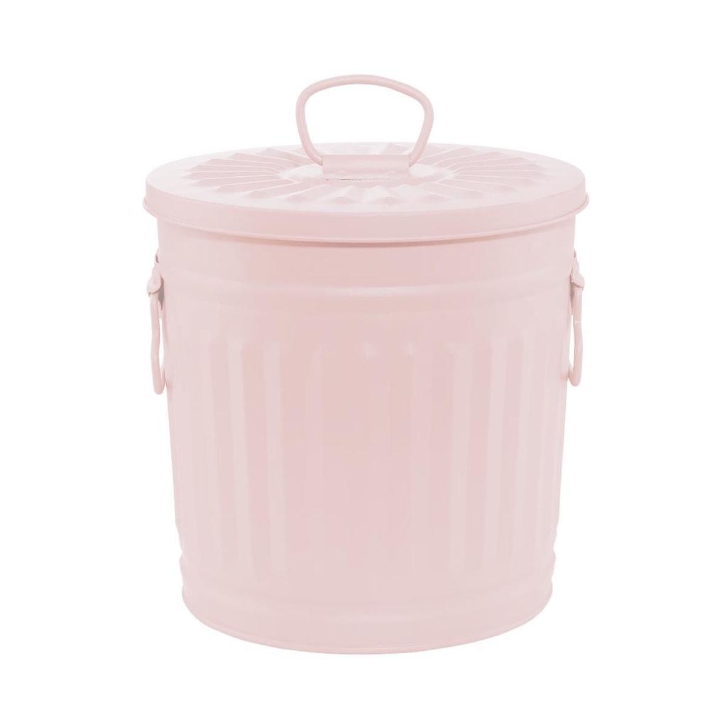 LITTLE OSCAR Odpadkový koš 18 l - pastelově růžová