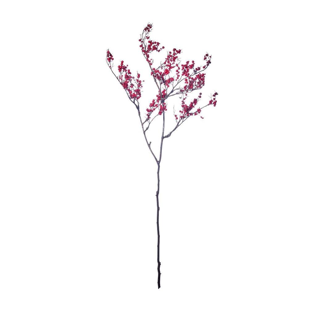 WINTERGREEN Větvička s bobulkami 105 cm
