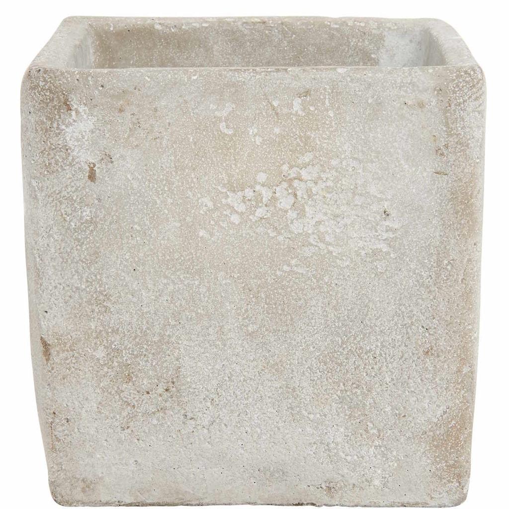FLORAL BASIC Květináč z betonu čtvercový, 16 cm