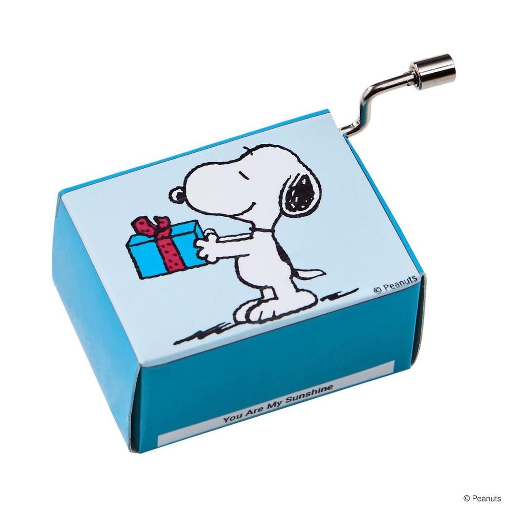 SING A SONG Hrací skříňka Snoopy s dárkem