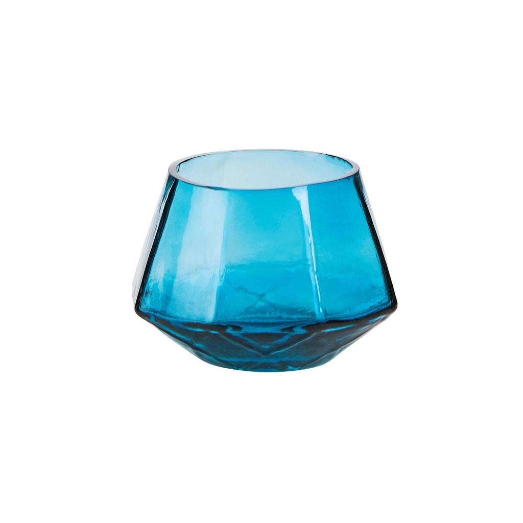 DELIGHT Svícen na čajovou svíčku 9,5 cm - petrolejová