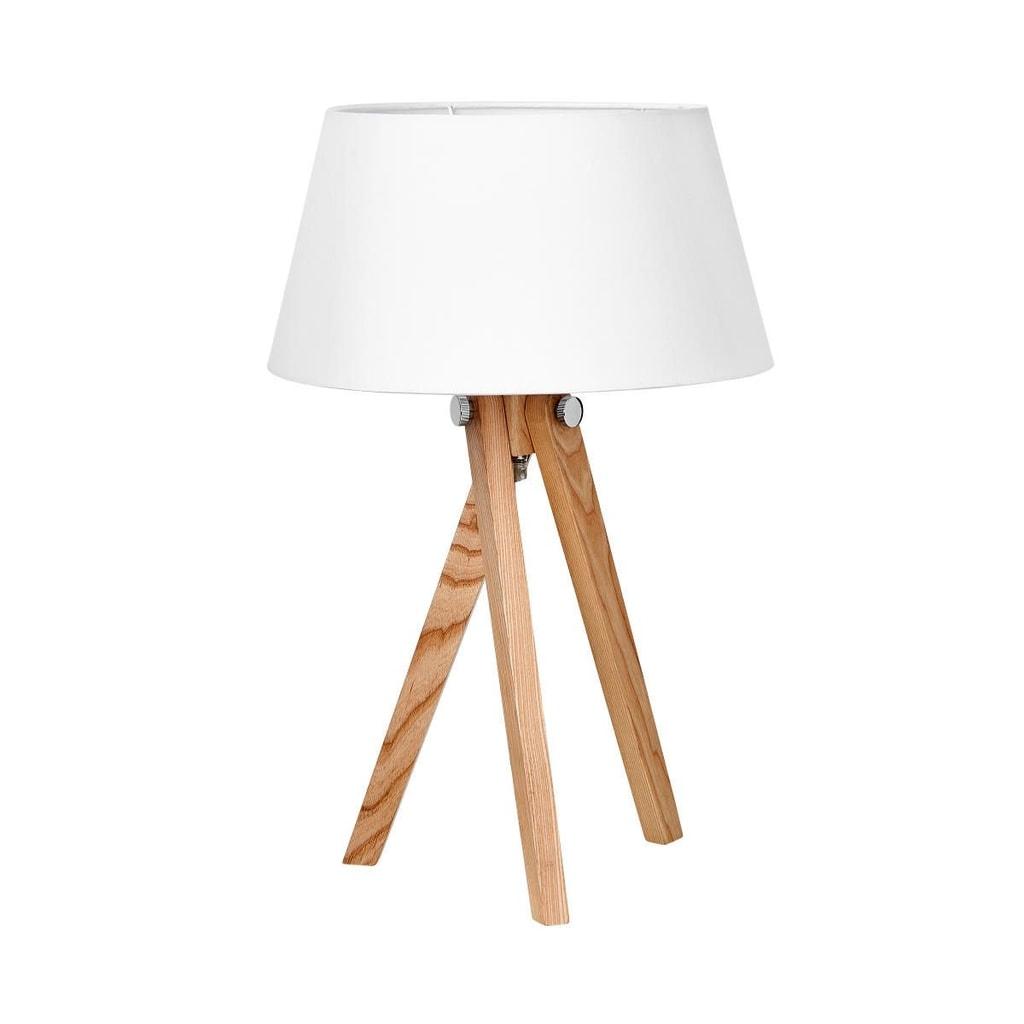 Fotografie WOODPECKER Stolní lampa s dřevěným podstavcem