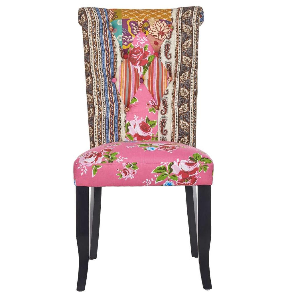 PATCH Patchwork židle - růžová
