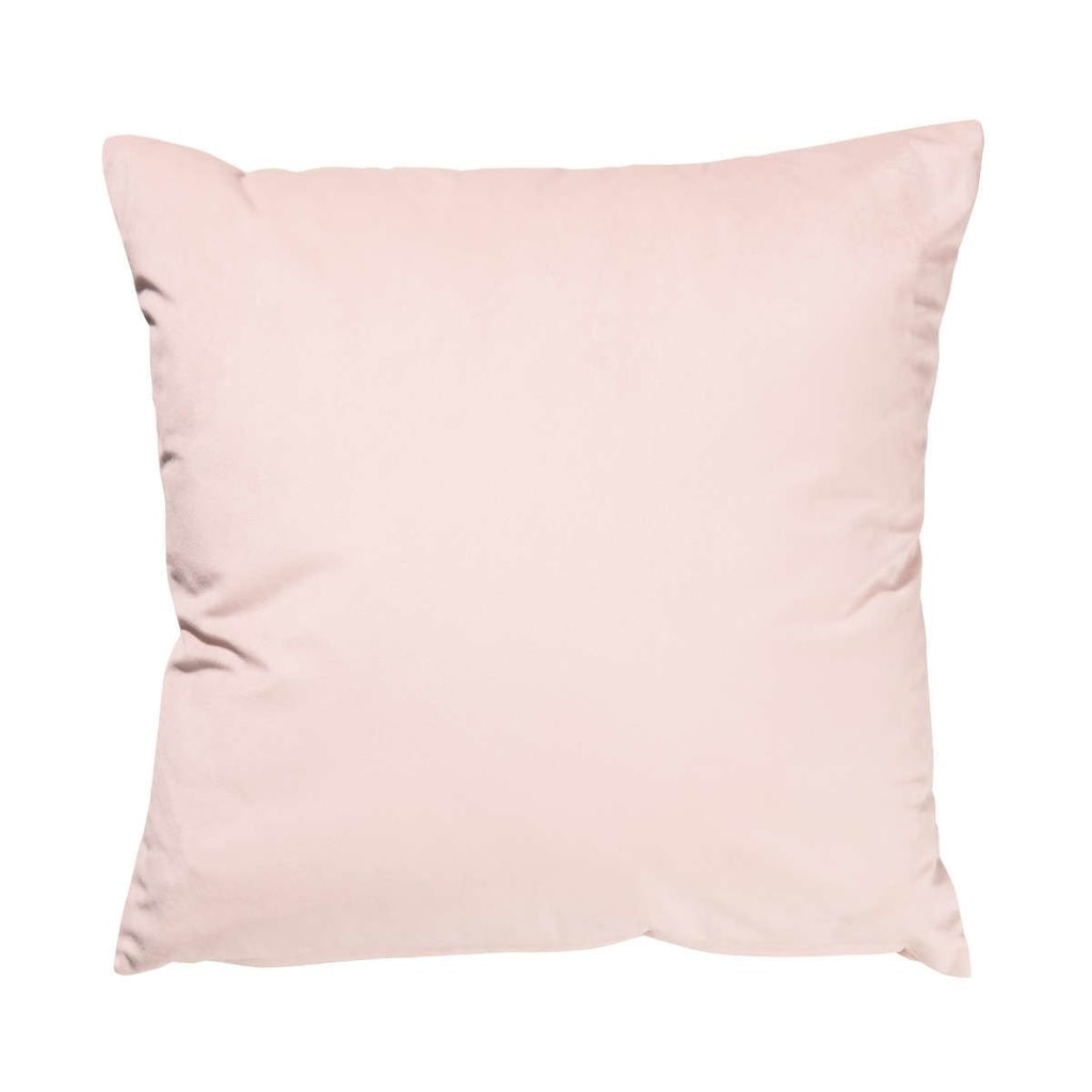 VELVET DREAM Polštář sametový 45 x 45 cm - sv. růžová