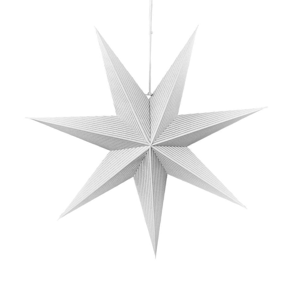 LATERNA MAGICA Papírová dekorační hvězda 60 cm - stříbrná/bílá