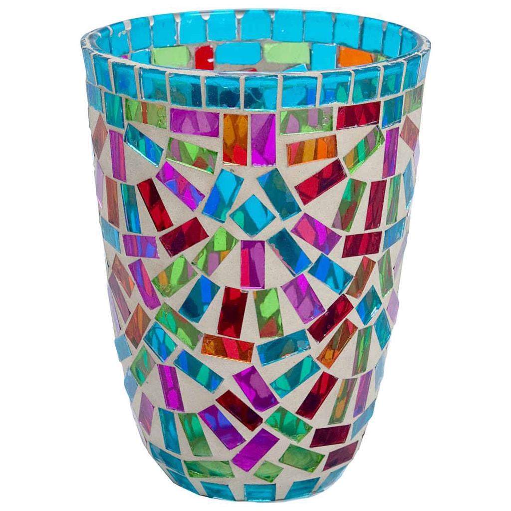 TIFFANY Lucerna na svíčku 12 cm - mix