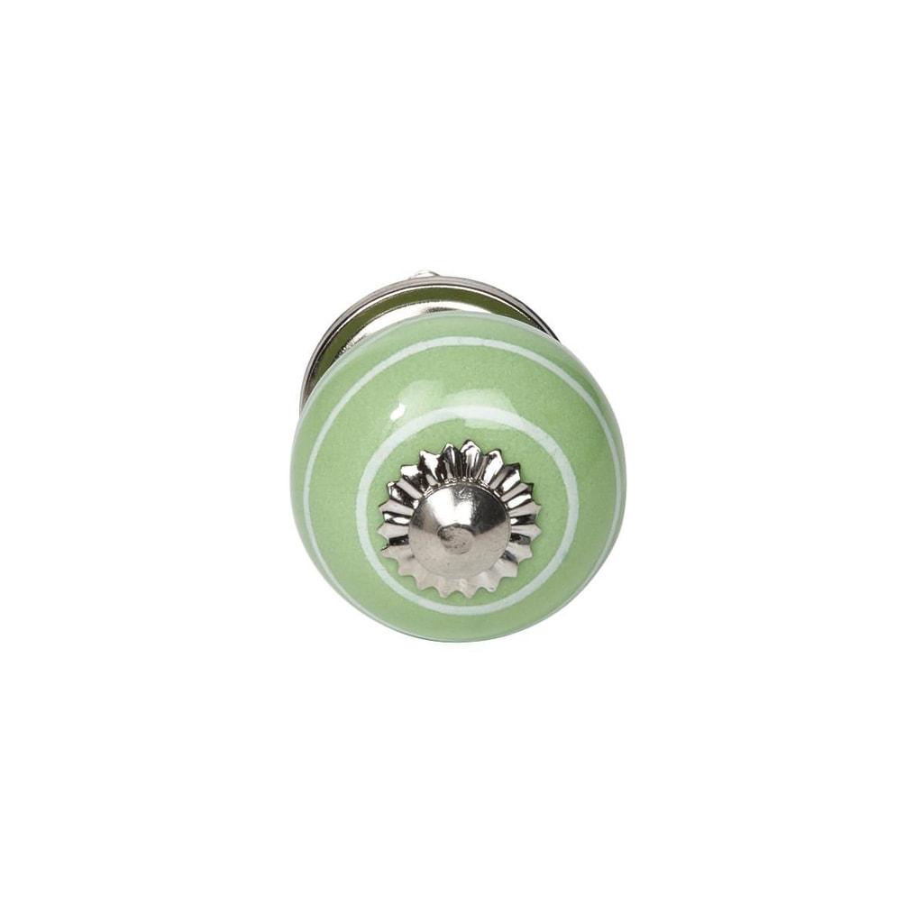 OPEN Nábytková úchytka proužky - zelená/bílá