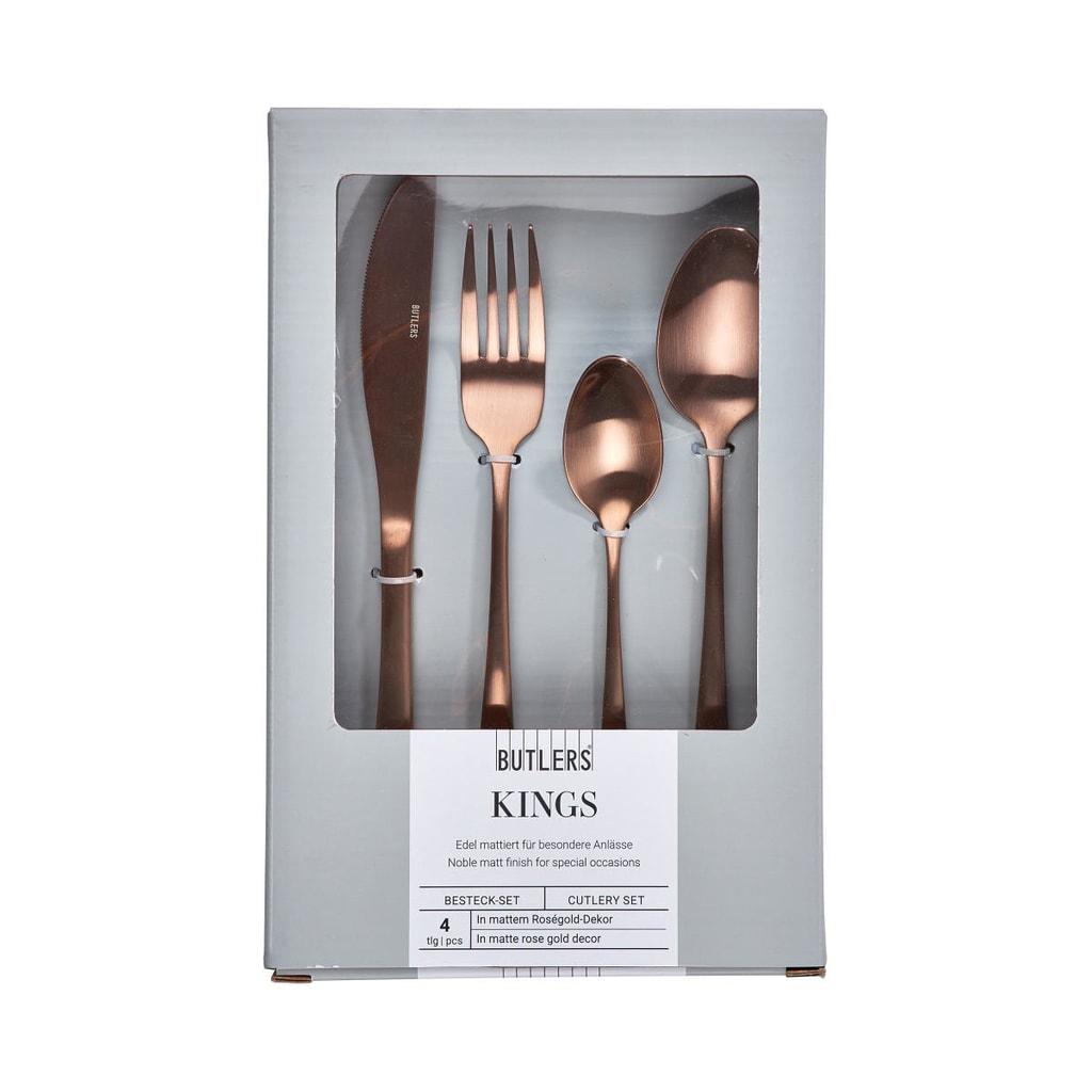 KINGS Příbor Set pro 4 - růžová zlatá