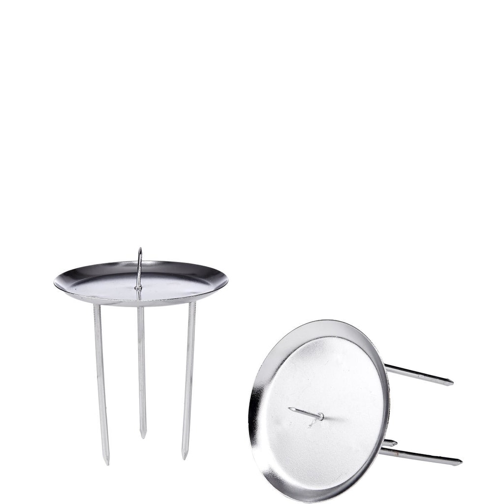 X-MAS Bodce pro adventní svíčky - stříbrná