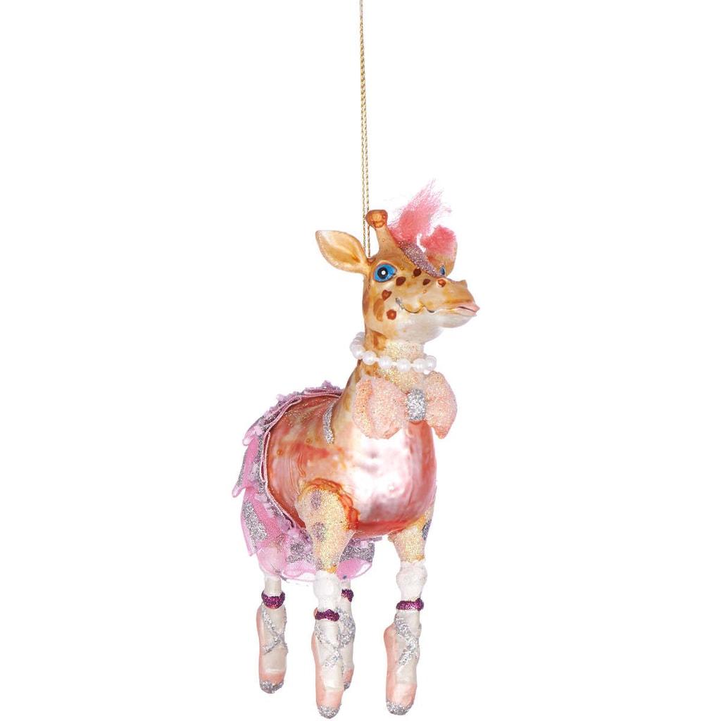 HANG ON Ozdoba žirafa baletka 13 cm