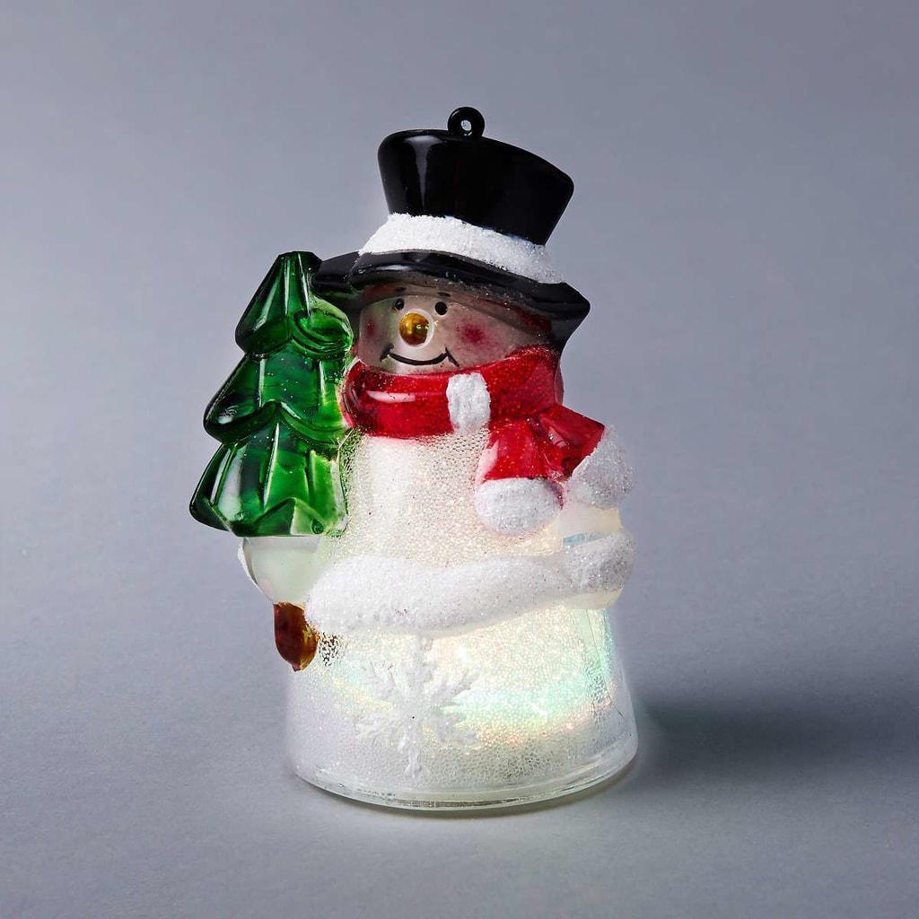 SANTA LIGHTS Světelná figurka sněhulák se stromkem