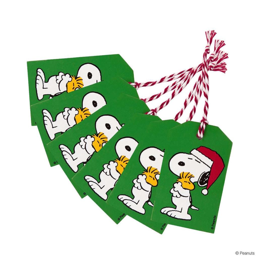 PEANUTS Jmenovka na dárky Snoopy a Woodstock set