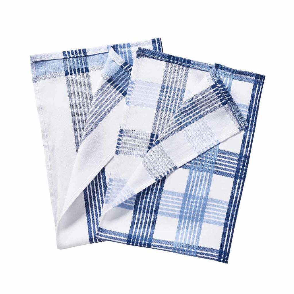 CLEAN TEAM Utěrka set 2 ks - modrá/bílá