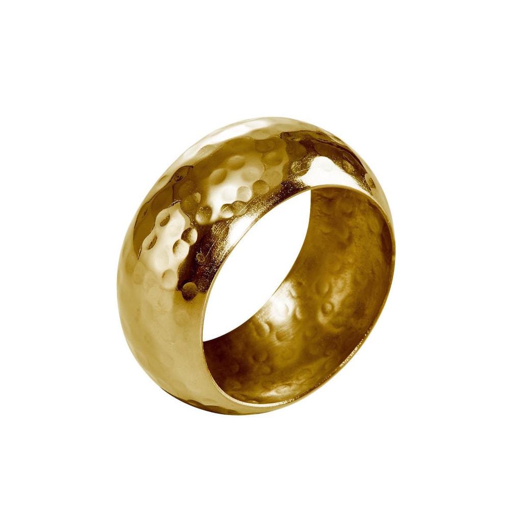 LORD Kroužek na ubrousek tepaný - zlatá