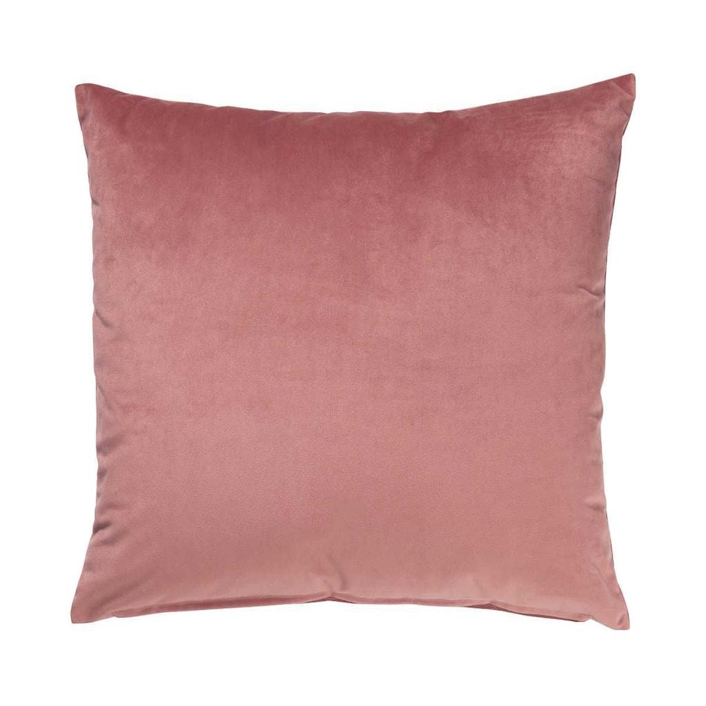 VELVET DREAM Polštář sametový 45 x 45 cm - pastelově červená
