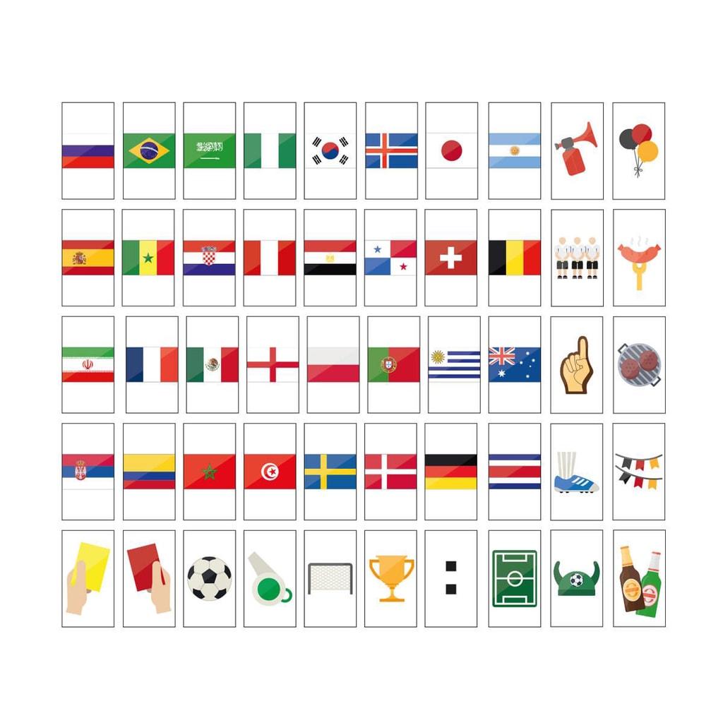 BLOCKBUSTER Set symbolů mistr světa 50 ks