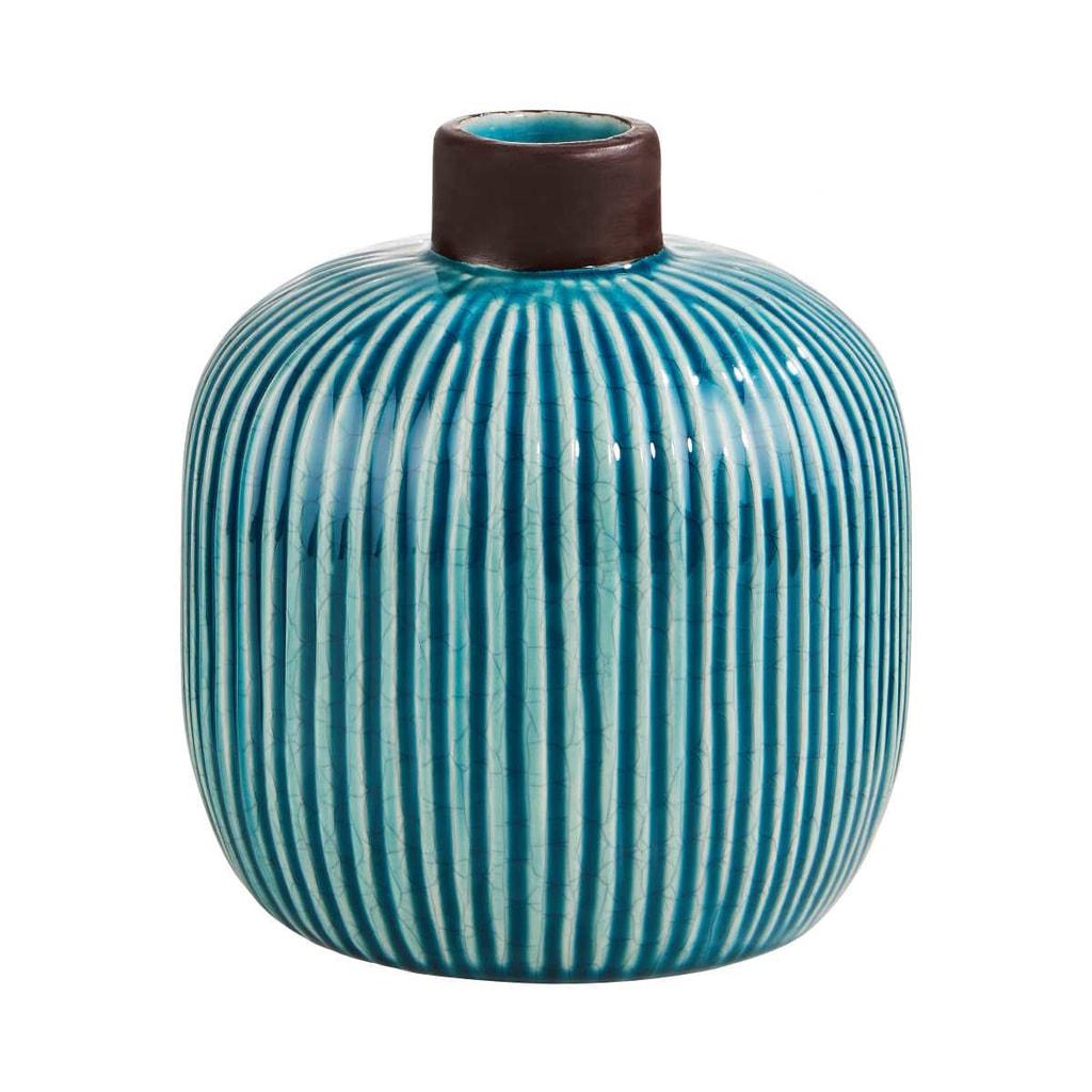 WILD GREEN Váza 17 cm - tyrkysová
