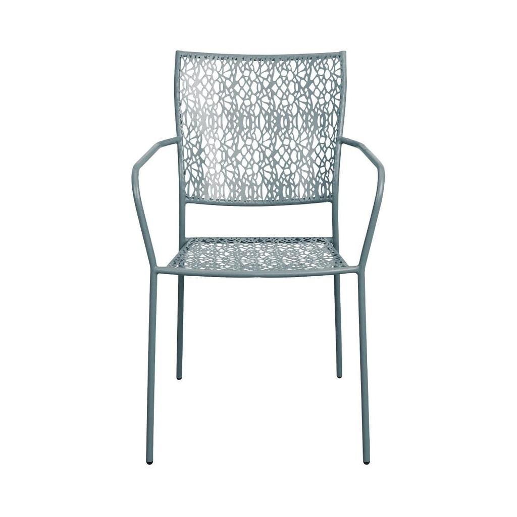 NANCY Židle s područkami - šedá