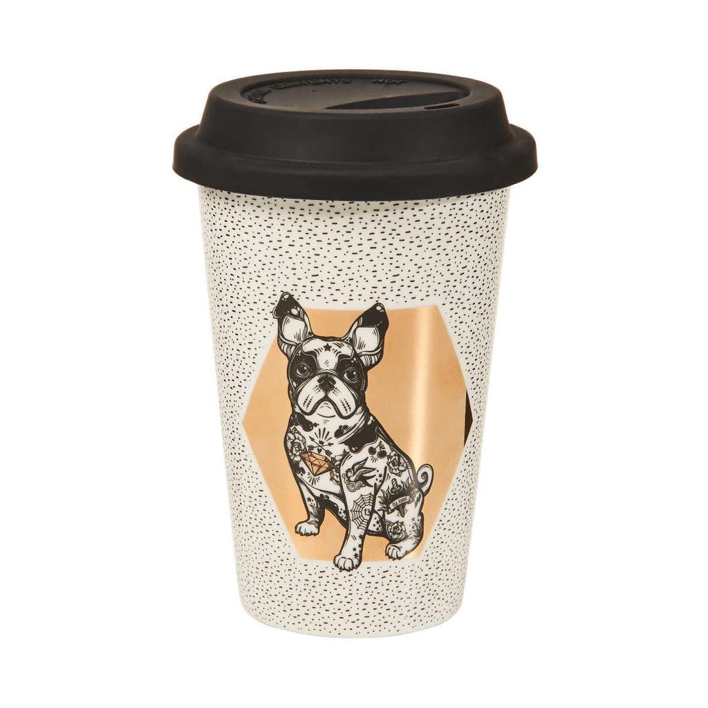 COFFEE DELUXE Cestovní hrnek na kávu buldoček