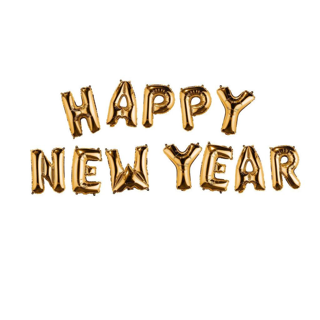 """UPPER CLASS Fóliový balónek """"HAPPY NEW YEAR"""" - zlatá"""