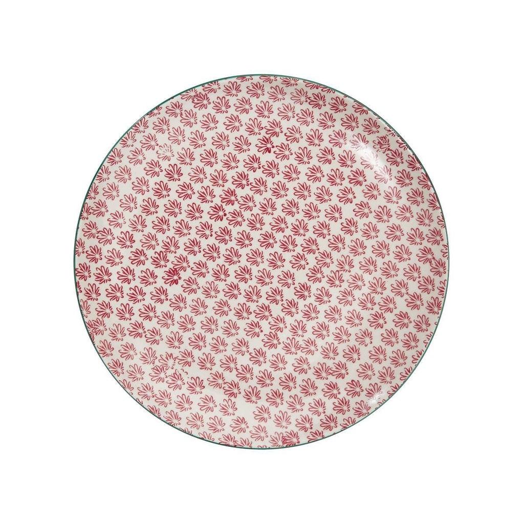 RETRO Jídelní talíř - červená