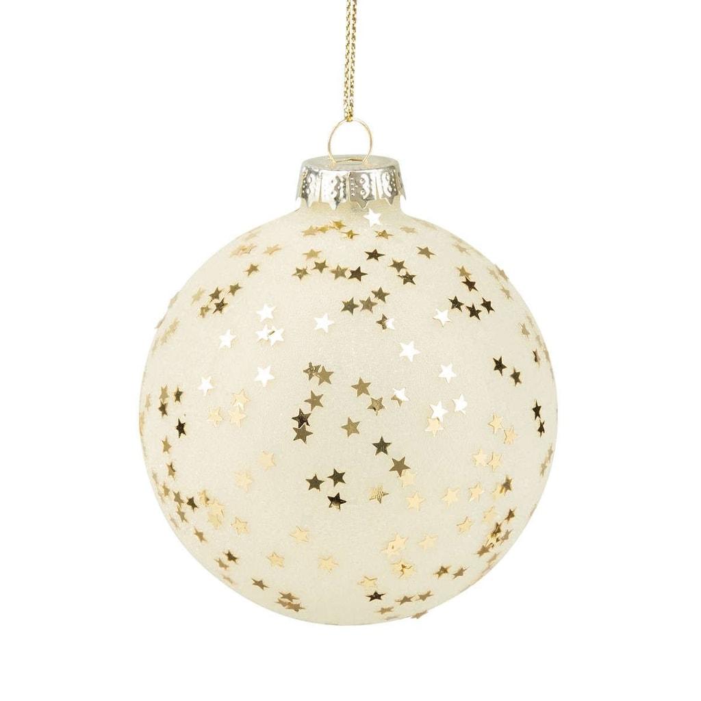 HANG ON Ozdoba koule hvězdy 8 cm- zlatá
