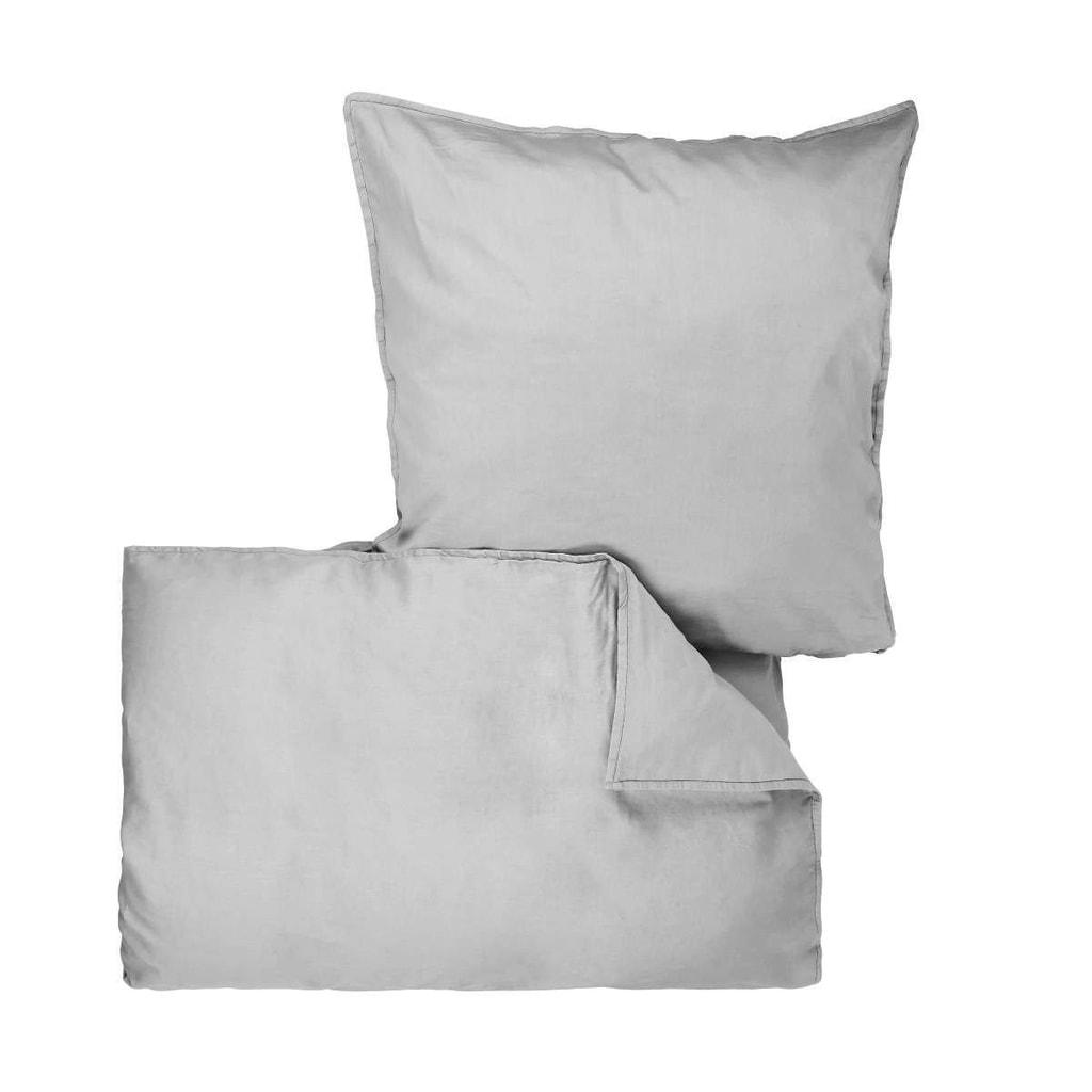 BEDTIME Povlečení 135 x 200 cm / 80 x 80 cm - sv. šedá