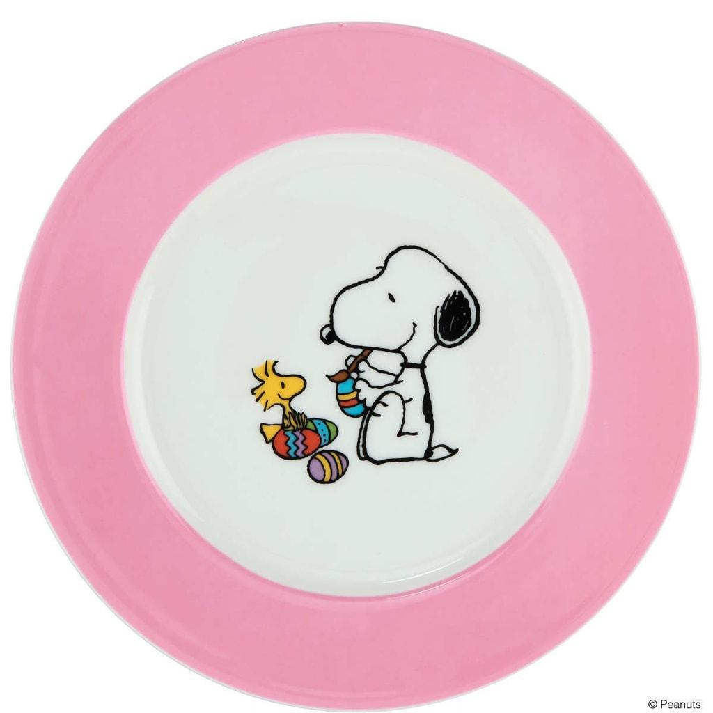 PEANUTS Talíř Snoopy a Velikonoce - rosa