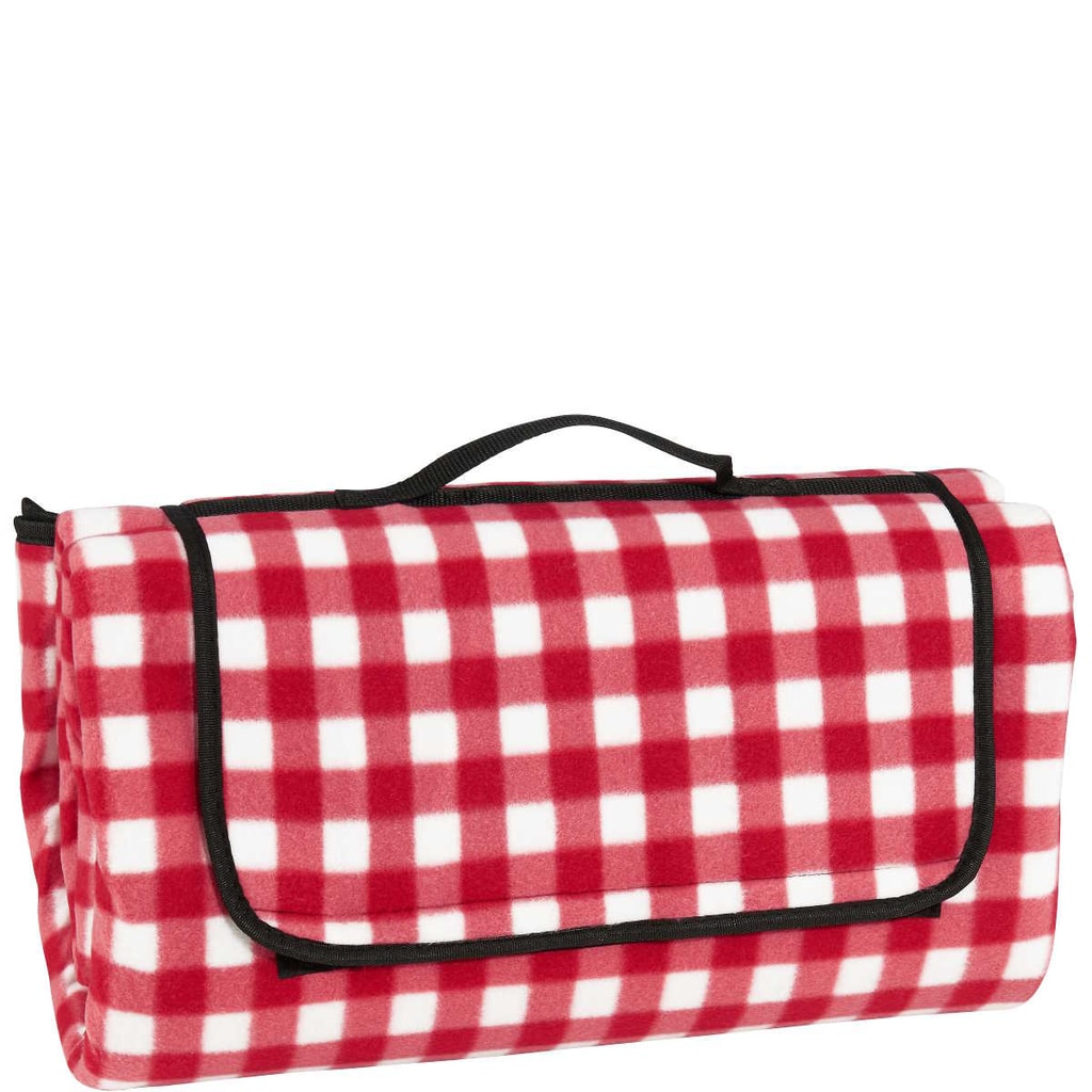 GET TOGETHER Pikniková deka kostka - červená
