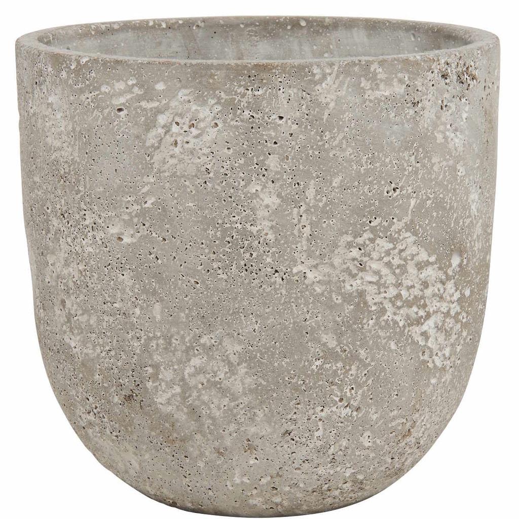 FLORAL BASIC Květináč z betonu kulatý, 15 cm