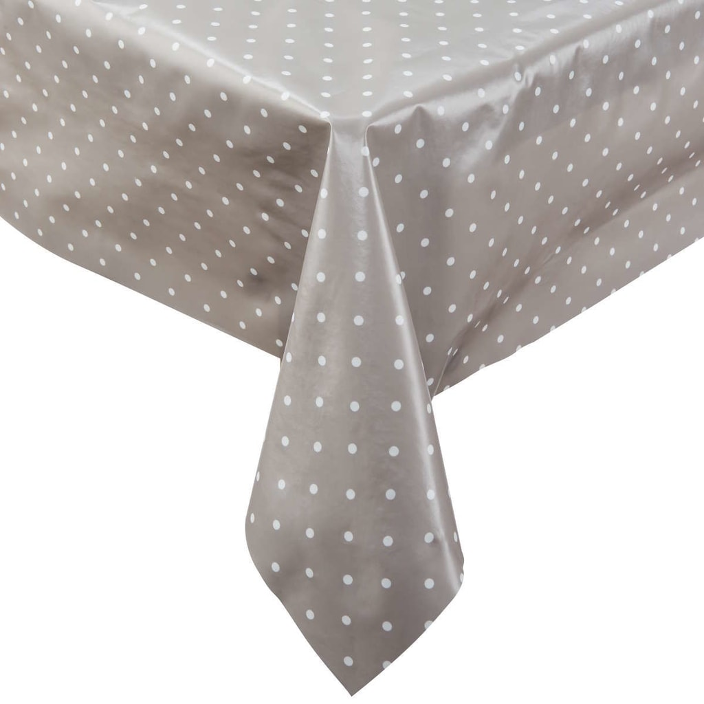 WATERPROOF Ubrus omyvatelný s puntíky 110 x 110 cm - šedá