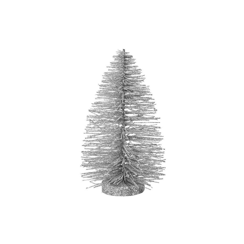 X-MAS Stromeček třpytivý 22 cm - stříbrná