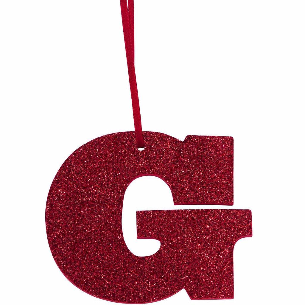 HAPPY GIFT Písmeno s třpytkami G