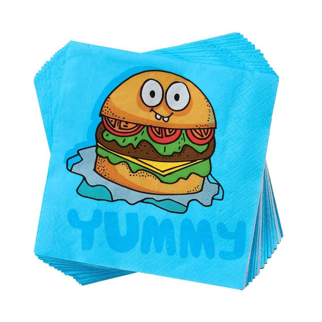 APRÉS Papírové ubrousky burger Yummy