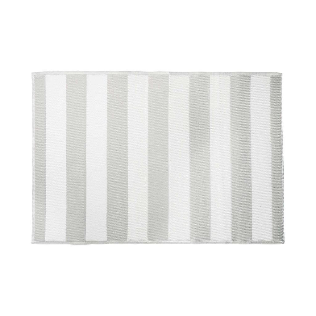 COLOUR CLASH Koberec venkovní pruhy 180 x 120 cm - šedá