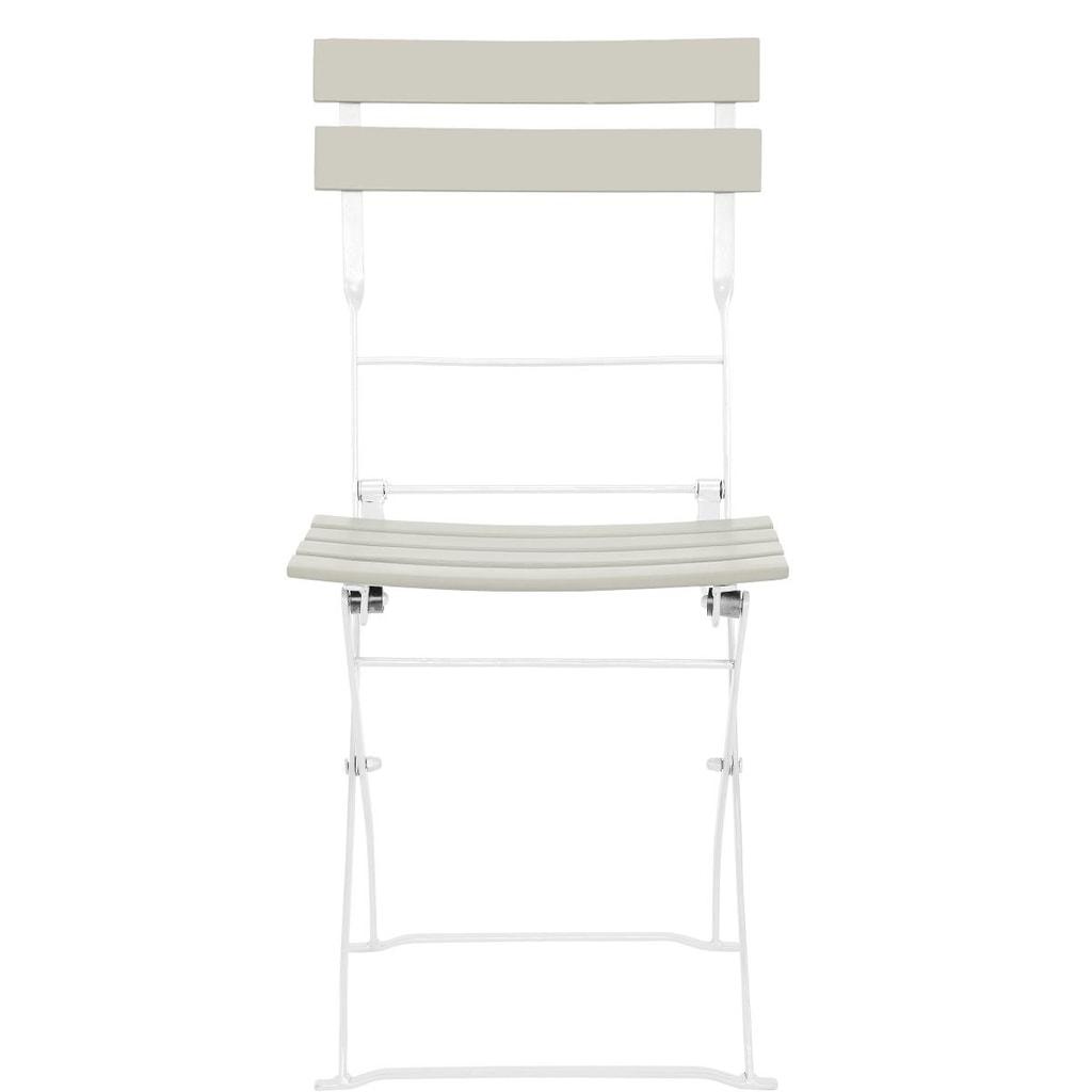 STREET LIFE Skládací židle - šedohnědá/bílá