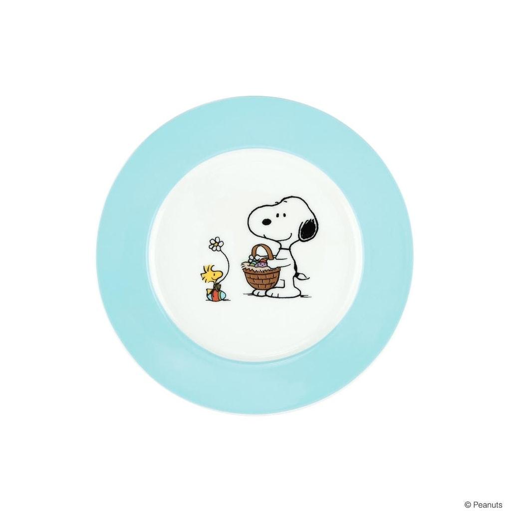 Fotografie PEANUTS Talíř Snoopy a Velikonoce - modrá