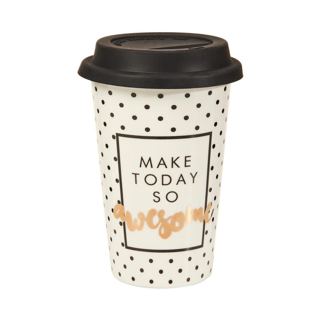 """COFFEE DELUXE Cestovní hrnek na kávu """"Go Awesome"""""""