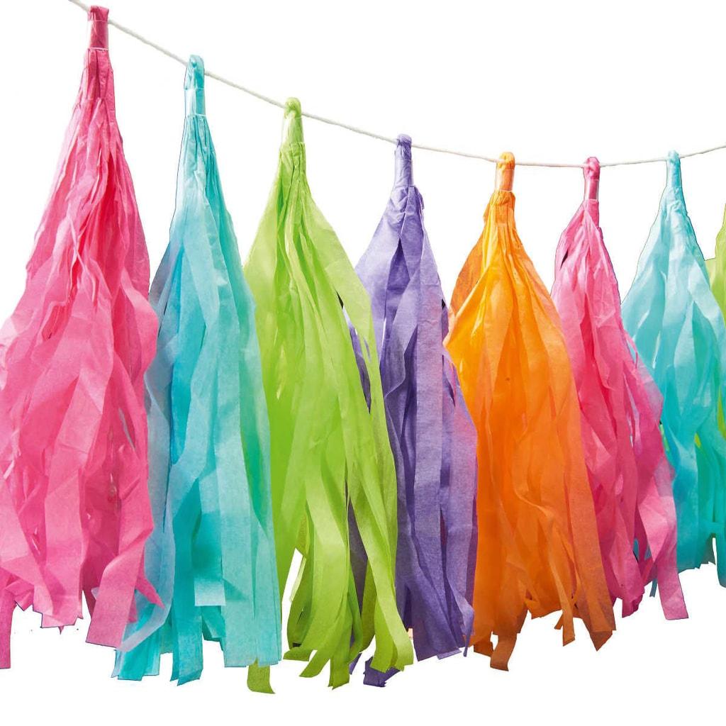 BANNER DAY Girlanda střapec - barevná
