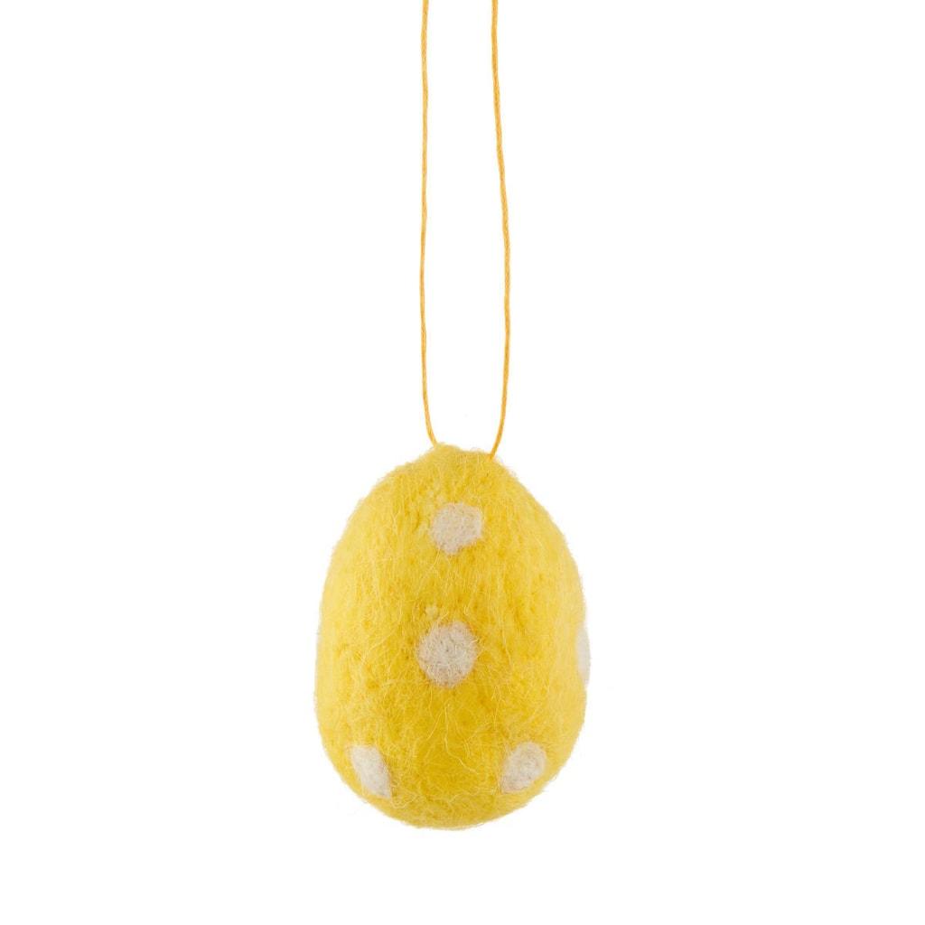EASTER Filcová ozdoba vejce - žlutá