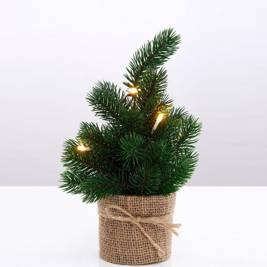 TREE OF THE MONTH Vánoční stromek s led světly 30cm