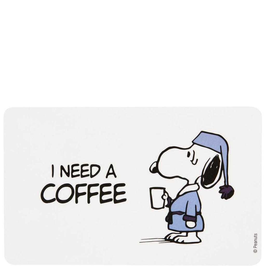 PEANUTS Snídaňové prkénko I need Coffee