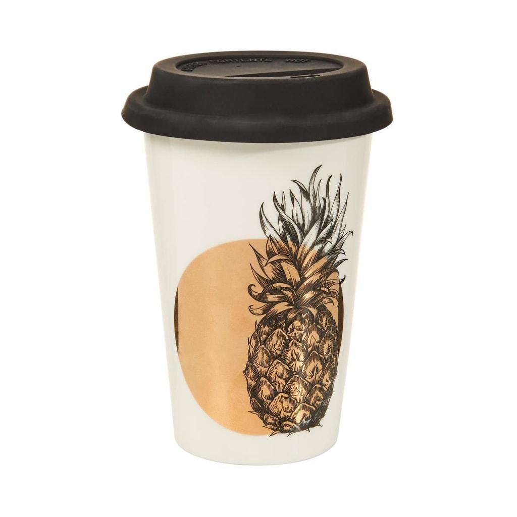 COFFEE DELUXE Cestovní hrnek na kávu ananas