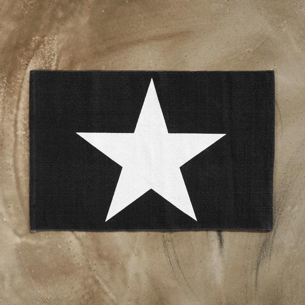 SILENT DANCER Koberec hvězda 60 x 90 cm - černá/bílá
