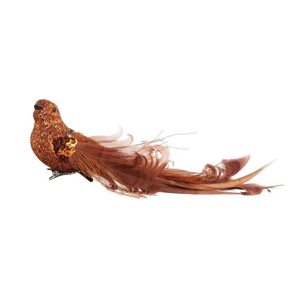 BIRDY Ptáček s klipem 19 cm - zlatá