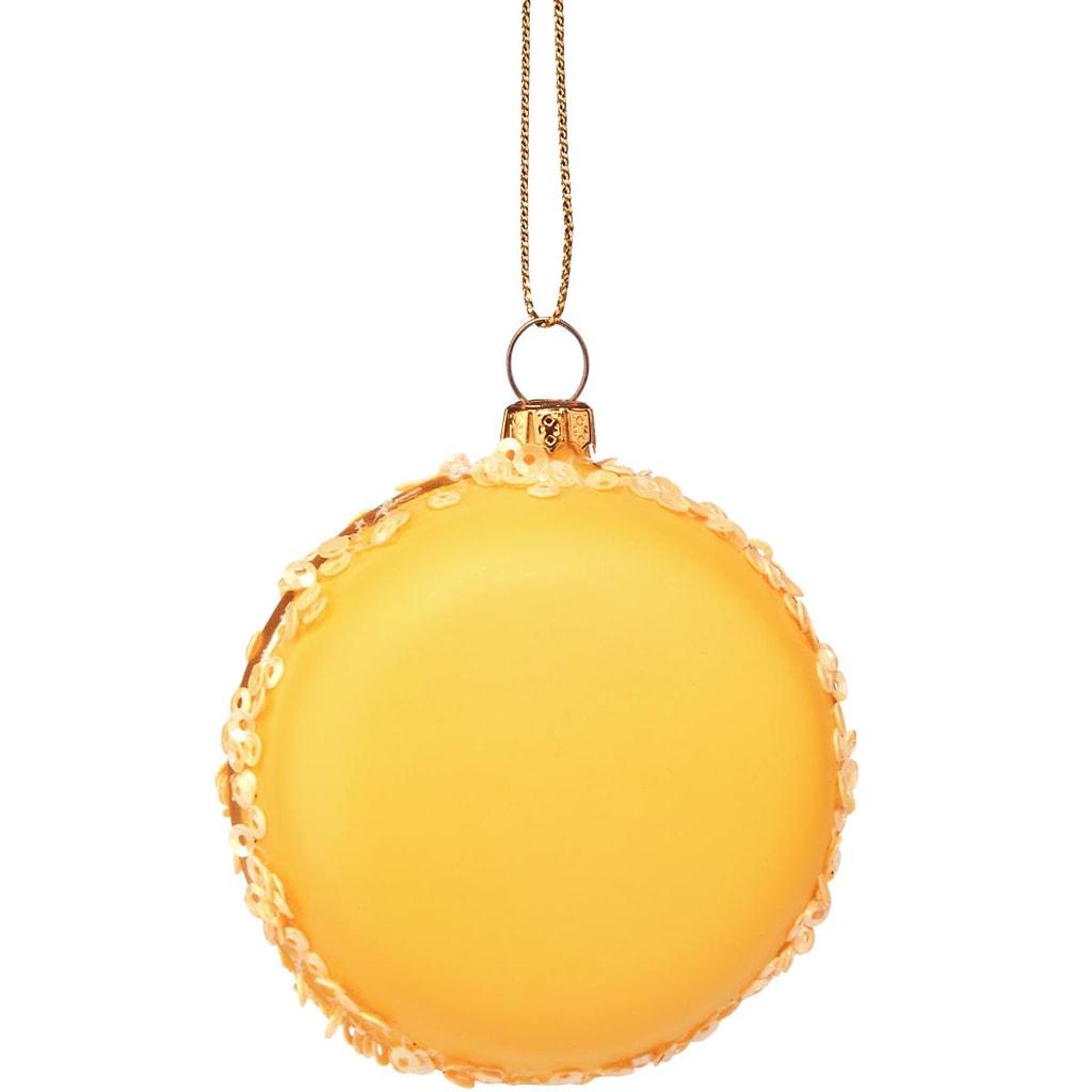 HANG ON Ozdoba makronka - žlutá
