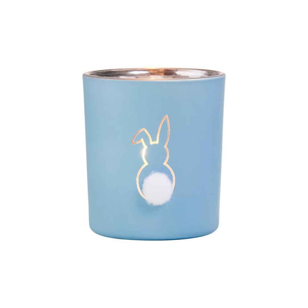 SOME BUNNY Svícen na čajovou svíčku 8 cm - modrá